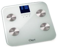 Ozeri Touch 440 lb Digital Bath Scale - Measures Weight, Body Fat, Hydration, Muscle & Bone Mass w Auto Recognition for 8 Users: $60 measures water too