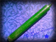 "Green Altar Candle 6"" $2.75 at The Indigo Gathering"