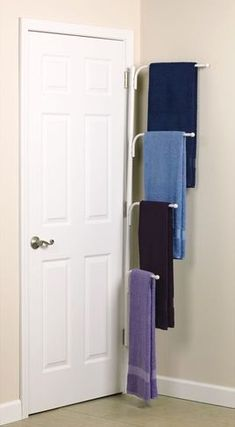 Bathroom Storage Ideas : Including This Multiple Tiered Towel Rack That  Hide .