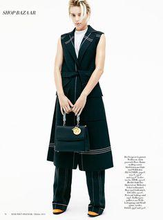 Erika Linder in Harper's Bazaar Germany Magazine October 2015 Photoshoot