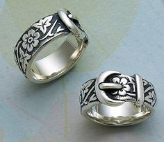 Floral Belt & Buckle Ring #JamesAvery