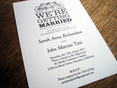 Black and White Printable Wedding Invitation by e.m.papers, via Flickr