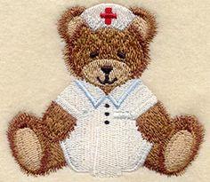 Teddy Bear Nurse design (A7025) from www.Emblibrary.com