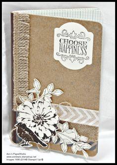 Stampin' Up! Kraft Journal #Choose Happiness Stamp Set #Ann's PaperWorks