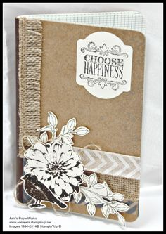 Stampin' Up! Kraft Journal #Choose Happiness Stamp Set #Ann's PaperWorks