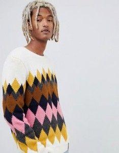 Jumper Knitting Pattern, Jumper Patterns, Chunky Knitting Patterns, Plaid Pattern, Cute Sweaters, Sweaters For Women, Men Sweater, Argyle Sweaters, Chunky Knit Jumper