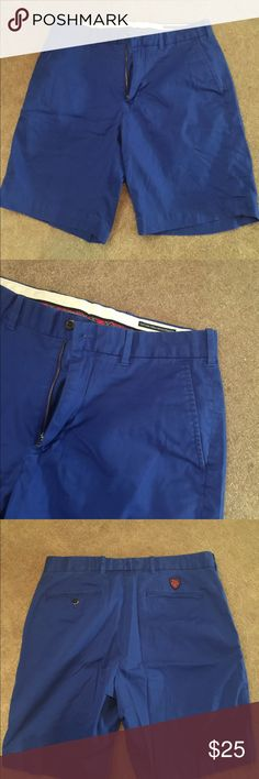 Men's blue polo golf shorts 98% cotton 2% elastin. No fading. In great condition. ND Polo by Ralph Lauren Shorts