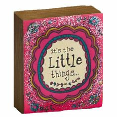 Natural Life Art & Soul Wood It's the Little Things  #WhimsicalUmbrella #Art #Wood #HomeDecor #Gift whimsicalumbrella.com