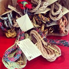 Float rope dog leashes, handmade in Maine!