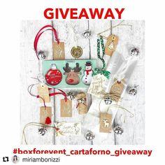 Partecipo al boxforevent_cartaforno_giveaway! Invito @roberta_adorno23 @oriellaponzo @daniela_giovine #Repost @miriambonizzi  Finalmente ecco un giveaway targato BOXFOREVENT & CARTAFORNO  Chi vincerà riceverà un kit per confezionare i propri biscotti composto da: - Set taglia biscotti - Ricettario - n. 10 tag fatte a mano da BOXFOREVENT - n. 10 sacchettini trasparenti - n. 10 campanellini - Un rotolo di spago  Da oggi 17 novembre fino al 2 dicembre potrete partecipare sia su Facebook sia su…