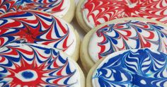 """Get ready for the 4th of July with these """"Fireworks Cookies """" -- they will add some pop, crack , and sizzle to your celebration. When I s..."""