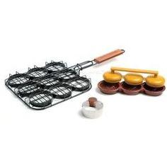 Sliders Grill Basket, Bun Cutter and Mini Burgers Press