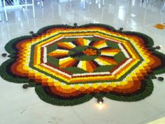 Rangoli Designs Flower, Rangoli Designs Diwali, Rangoli Designs Images, Flower Rangoli, Flower Designs, Flower Decorations, African, Blanket, Drawings