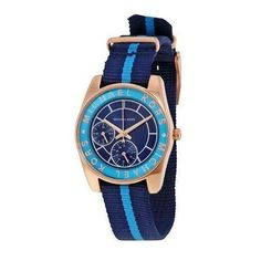 fb3367d64a2 Michael Kors Women's Ryland Navy and Turquoise Grosgrain Strap Watch 33mm  MK2402. Michael Kors UreNavyBlåProdukterAccessoriesMode