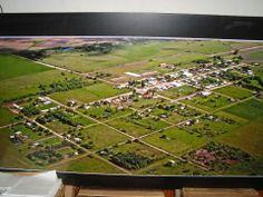 Fotografía ampliada de una vista aérea de Echagüe