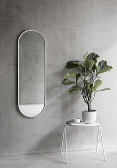 Inspired by vintage dressing room mirrors, Oval Mirror is simple and streamlined. A practical and versatile mirror, use it in the bathroom, hallway or dressing-room. Oval Mirror forms series by Norm Architects, each m. Dressing Room Mirror, Dressing Room Design, Dressing Area, Minimalist Wall Mirrors, Vintage Dressing Rooms, Maurer, Muuto, Wall Accessories, Structure Metal