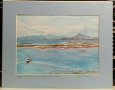 Watercolor Print Seascape Safely Moored Limited Ed 4/6 $9.99