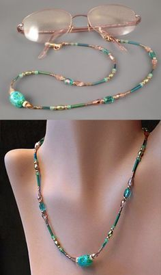 Learn how to make a beautiful beaded eyeglass leash that also can be worn as a necklace. This jewelry tutorial has detailed step-by-step instructions with close-up photos to ensure successful results.