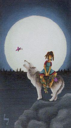 XI. Strength - Sun and Moon Tarot by Vanessa Decort