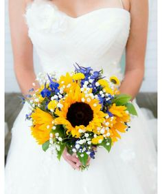 Sunflowers with a splash of color...beautiful!
