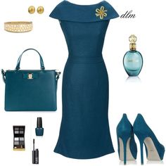Mar 2020 - A fashion look from May 2014 featuring vintage wiggle dress, suede pumps and shoulder strap purses. Browse and shop related looks. Komplette Outfits, Retro Outfits, Classy Outfits, Stylish Outfits, Beautiful Outfits, Fashion Outfits, Womens Fashion, Work Fashion, Fashion Looks