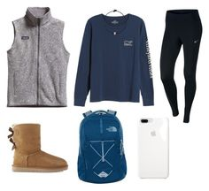 """School"" by virginia-counts on Polyvore featuring Vineyard Vines, Patagonia, NIKE, UGG and The North Face"