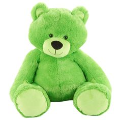 """22"""" Bright Bear - Green.  Available in Toys R Us Stores now!"""