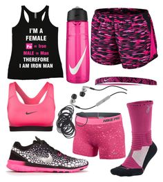 """""""I am Iron Man"""" by carolynevers ❤ liked on Polyvore featuring NIKE and Skullcandy"""