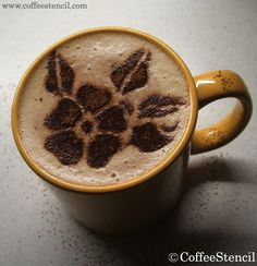 . coffee with a flower