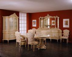 Nábytek do jídelny v italském honosném stylu od společnosti Meroni Francesco e Figli. Kompletní nabídku naleznete na našich internetových stránkách: http://www.saloncardinal.com/galerie-meroni-francesco-e-figli-e1c