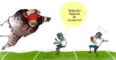 Garrincha football | Caricaturas - Yahoo Noticias