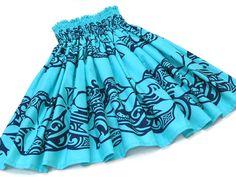 青のパウスカート・ティアレ no.6303 Hula, Boho Shorts, Skirts, Hawaii, Dance, Clothes, Life, Women, Fashion