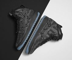 Nike 2015 Black History Month Collection- Air Force 1 Duckboot BHM, Black/Metallic Gold/White