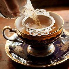 Vintage Teacup & Saucer & a Perfect Cup of Darjeeling Tea