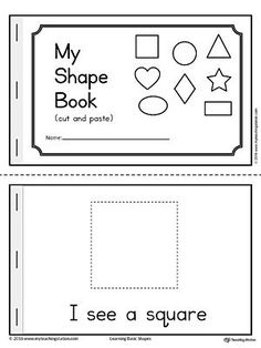 Basic Geometric Shapes Mini Book Worksheet.The Basic Geometric Shapes Mini Book is fun and simple for children in preschool to practice recognizing the eight basic shapes: square, circle, triangle, diamond, oval, rectangle, star, and heart.