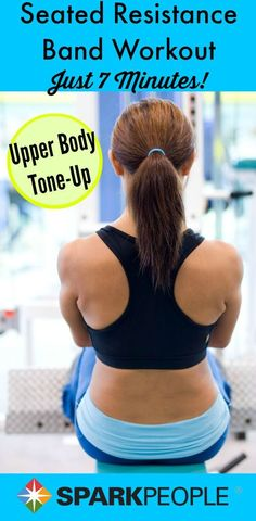 Sculpt your entire upper body in 7 minutes. All you need is a resistance band! | via @SparkPeople #workout #fitness #exercise
