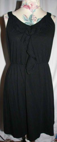 Gap-Little-Black-Dress-Sleeveless-Size-M-w-Ruffle