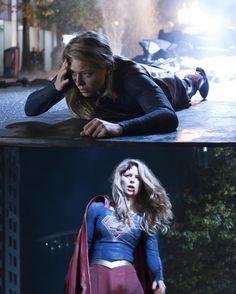 Supergirl has fallen Supergirl Outfit, Supergirl Superman, Supergirl 2015, Supergirl And Flash, Dc Tv Series, Supergirl Season, Kara Danvers Supergirl, Dc Tv Shows, Black Lightning
