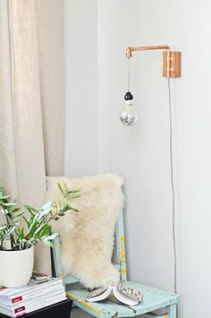 DIY - copper wall light
