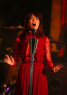 Florence Welch performs in ELIE SAAB PreFall 2012 gown on Valentine's Day in the Netherlands