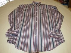 Faconnable Designed in France Mens S long sleeve striped button shirt EUC@ #Faonnable #ButtonFront