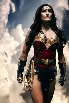 Wonder Woman finally a version where she isn't a twig with huge boobs. She actually looks strong.