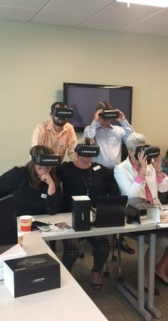 Testing our our new VR Glasses for this weekend's The Home Within a Home® Open House!