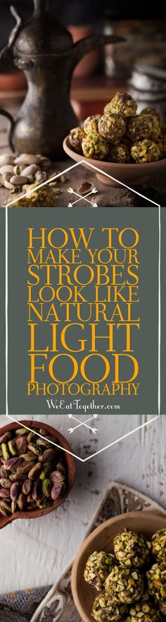 I love shooting with natural light, but when the light is gone here is how you can use your strobes or artificial light to match natural light food photography