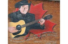 Stompin' Tom Connors is memorialized on a wall outside of the Greystone Hotel in Carleton Place where the late singer played. Carleton Place, Ottawa Valley, Music Icon, Small Towns, Country Music, Toms, Canada, Places, Community