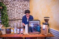 Coffee bar catering for wedding in Charleston, SC! #wecatercoffee