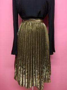 Falda midi plisada y metálica (2 colores) - OH MY! STORE