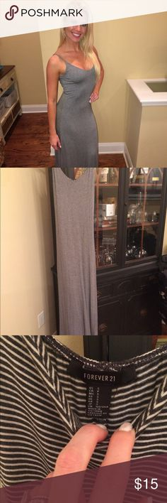 Nautical Maxi Dress! Very soft. No flaws. Adjustable straps. Forever 21 Dresses Maxi