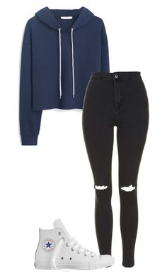 """""""☁️☁️☁️"""" by mrs-caylen ❤ liked on Polyvore featuring mode, MANGO, Topshop en Converse"""