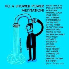 Shower Power / Karen Salmansohn quotes / how to de-stress